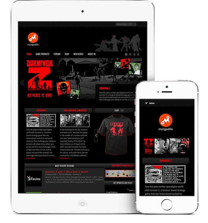Website Design for Mongadillo Studios