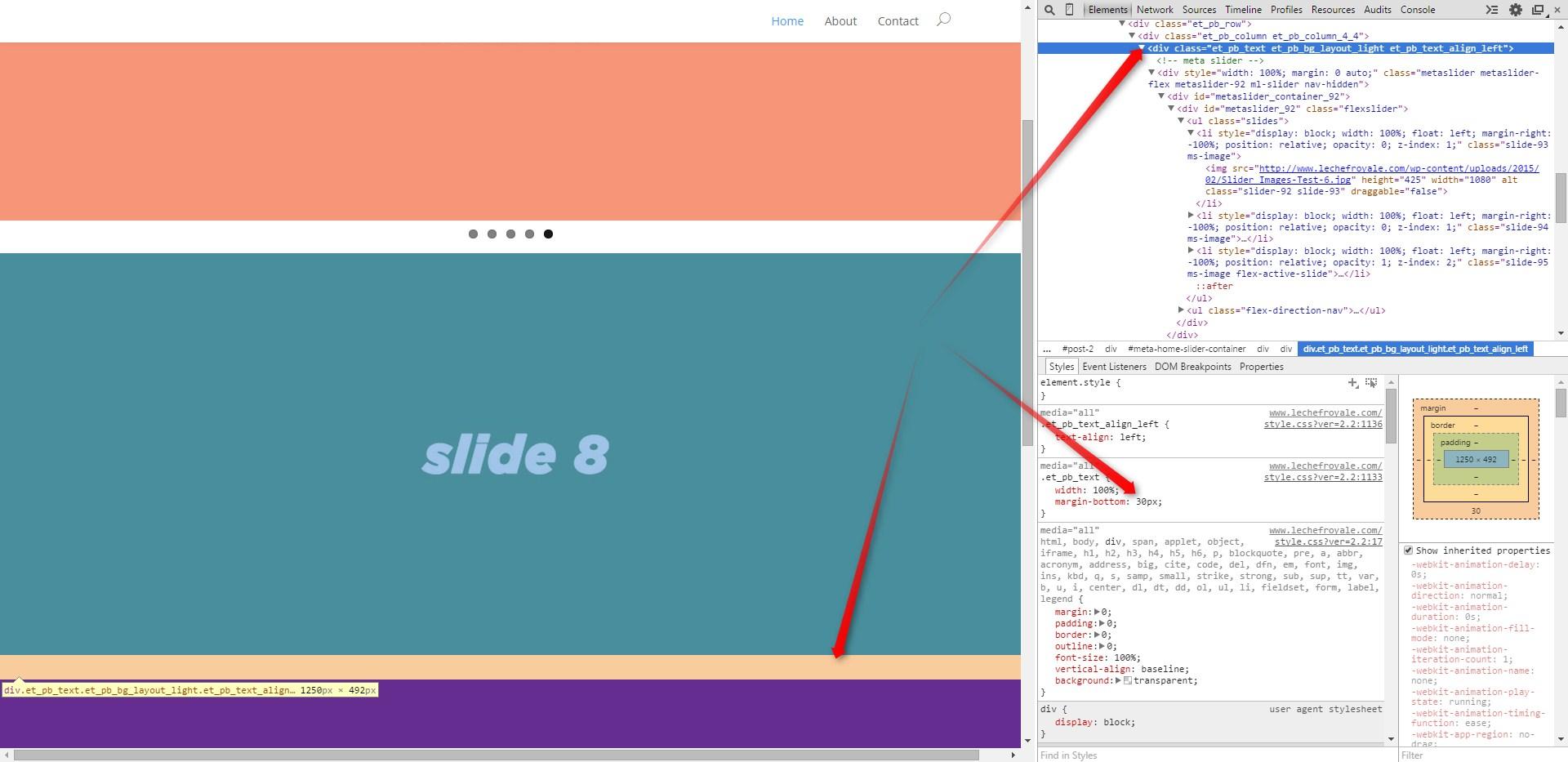 Johns Website using Dev Tools