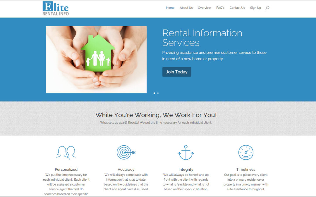 Elite Rental info