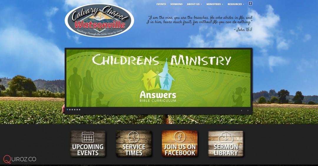 Calvary Chapel Watsonville Web Design