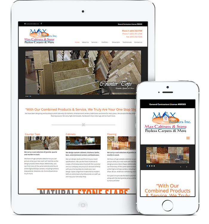 Website Design for Max Builders Inc