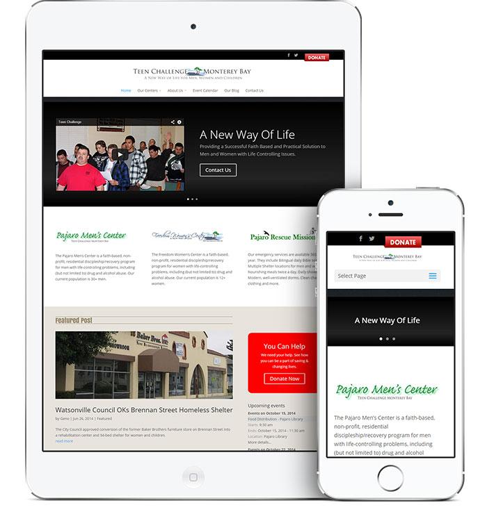 Website Design for Teen Challenge