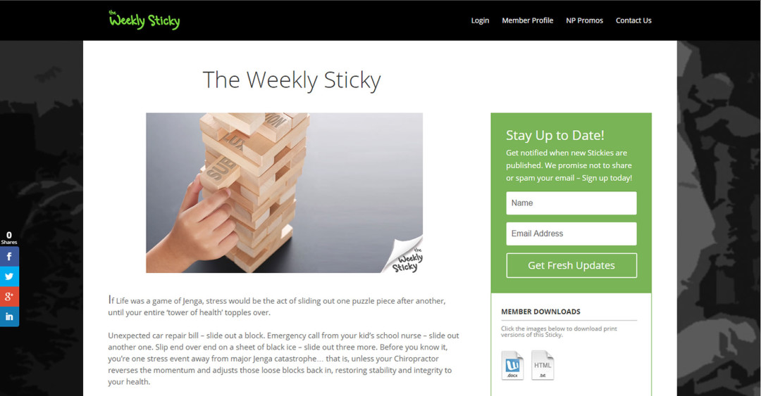 The Weekly Sticky