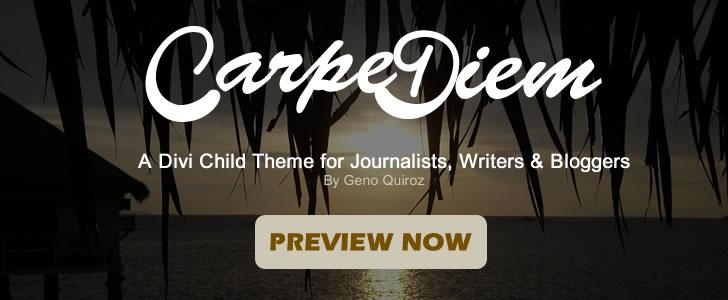 Carpe Diem Banner Ad