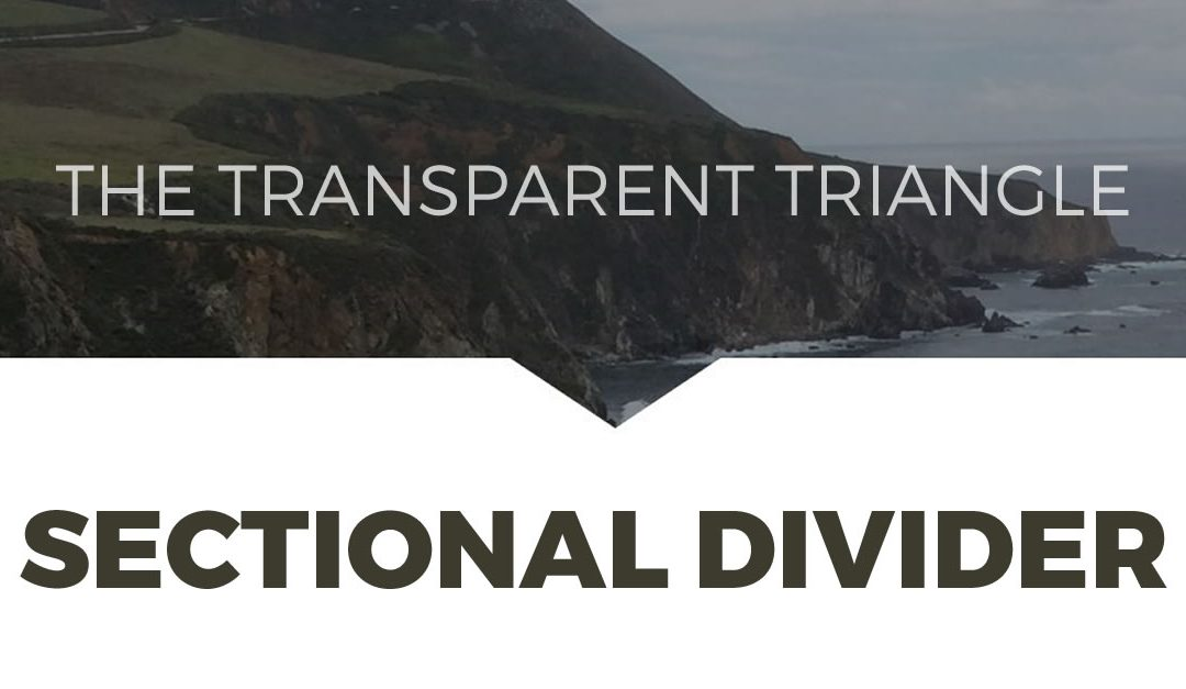 How to Create Transparent Triangles Between Sections in Divi