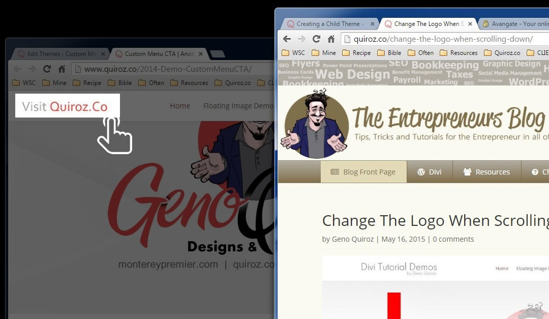 How To Link The Header Logo To A Different Page