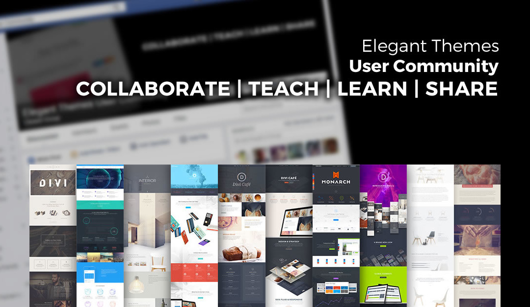 Introducing The Elegant Themes User Community Group