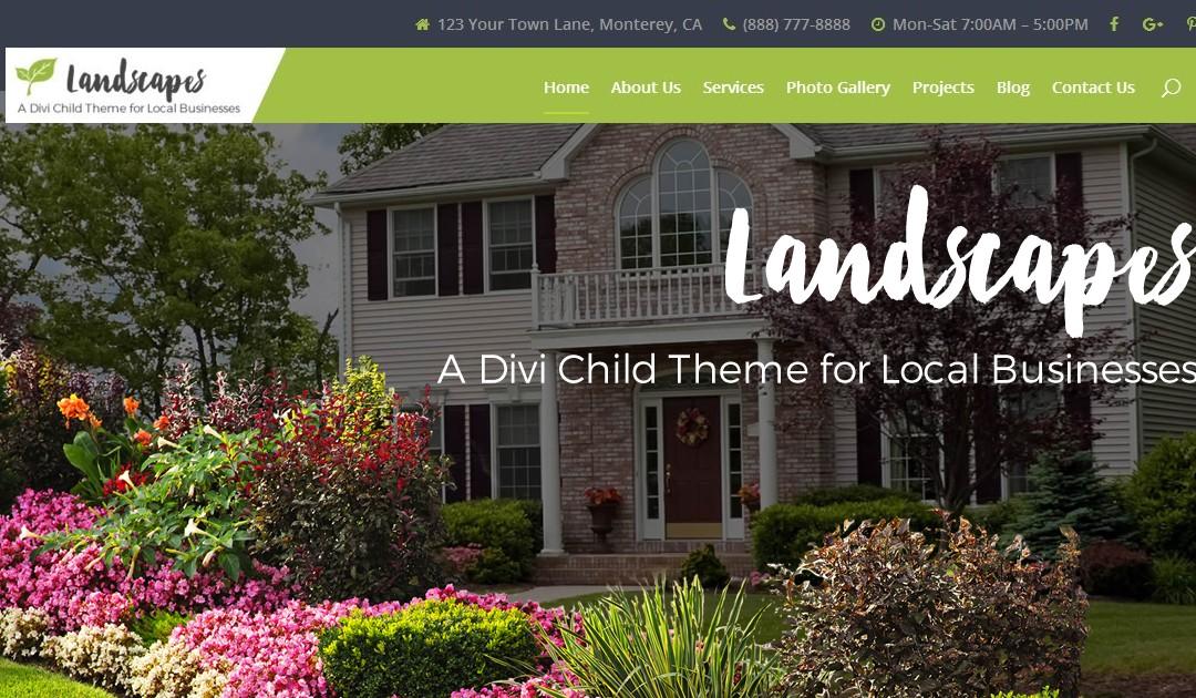 Introducing Landscapes, A Premium Divi Child Theme