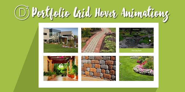 Divi Portfolio Grid Hover Animations & Larger 3 Column Images