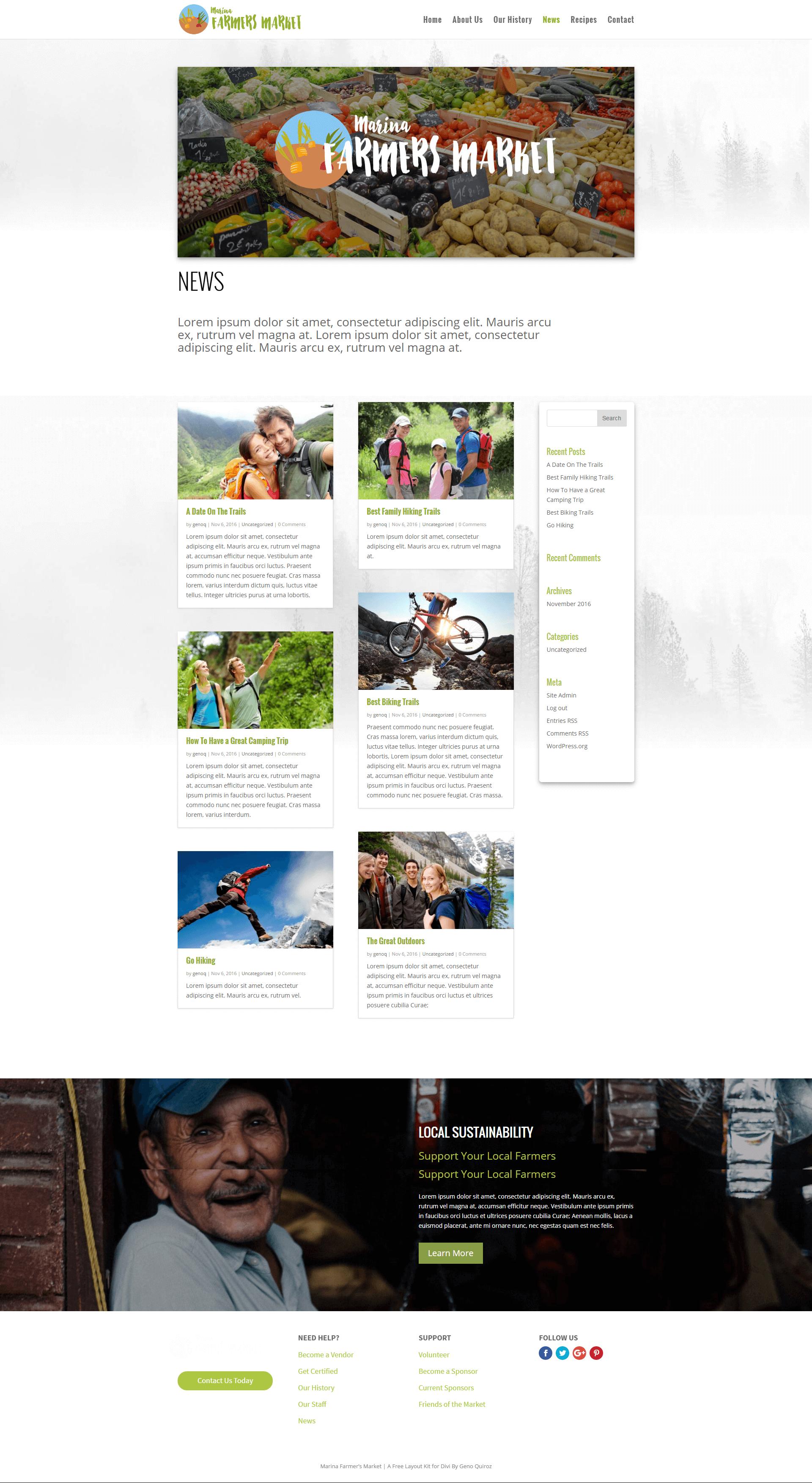 News / Blog Page