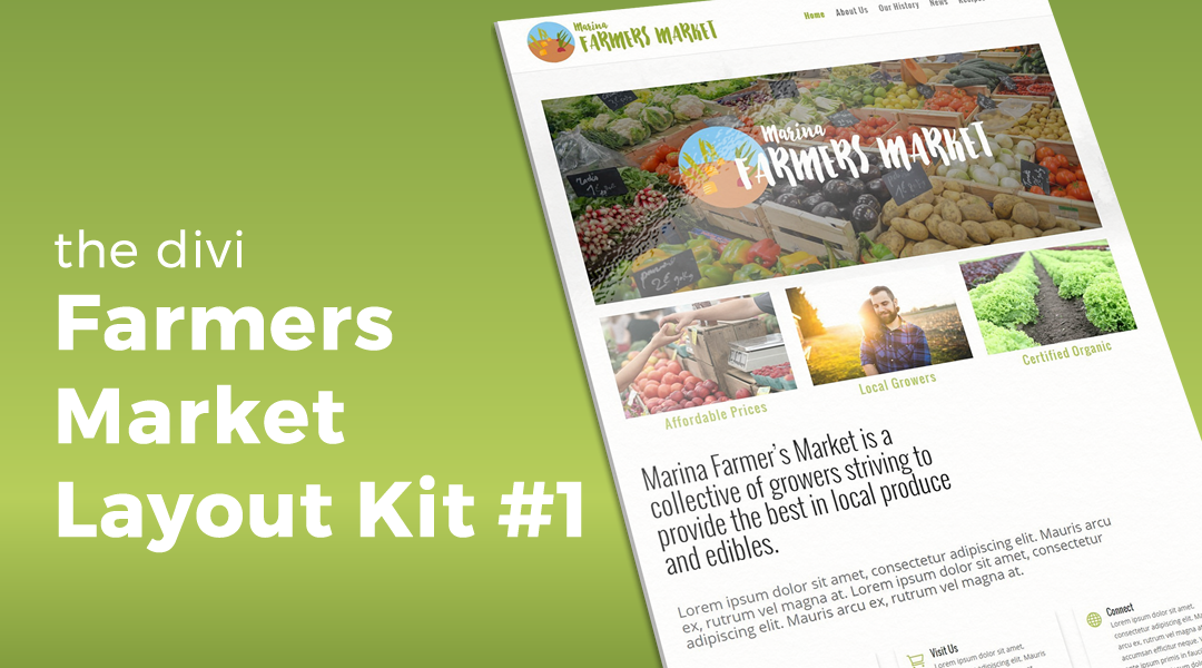 Farmers Market Layout Kit #1 for Divi