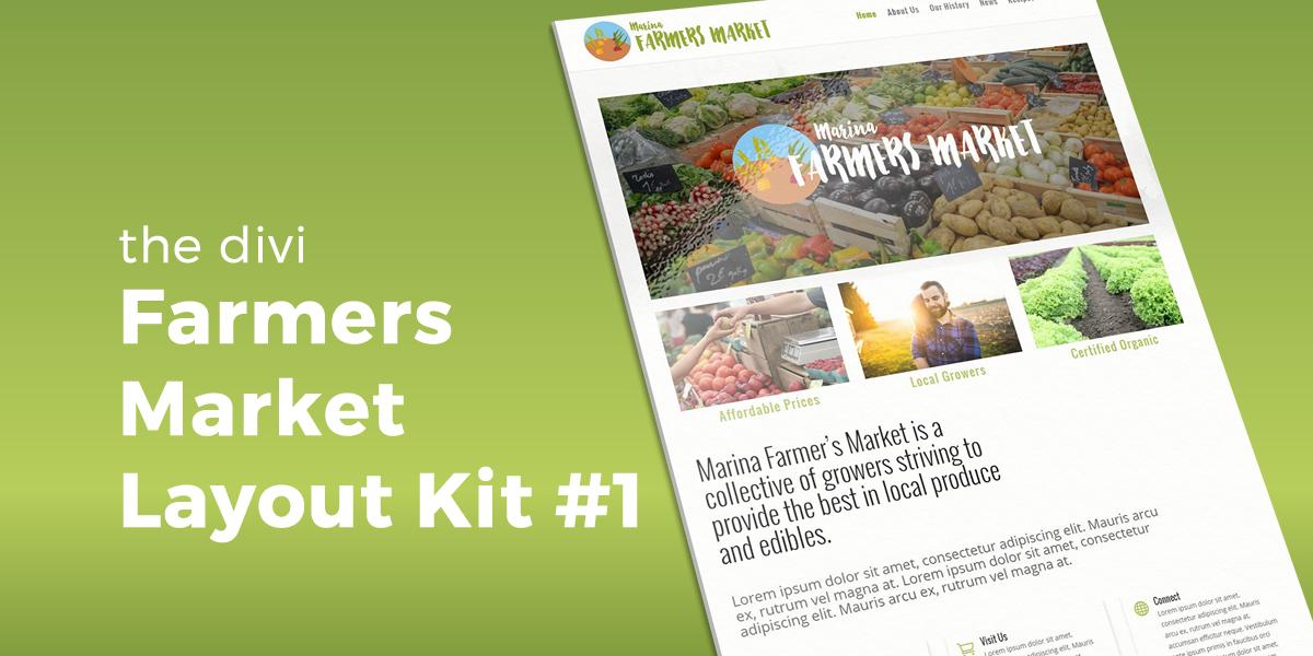 Farmers Market Layout Kit #1 for Divi