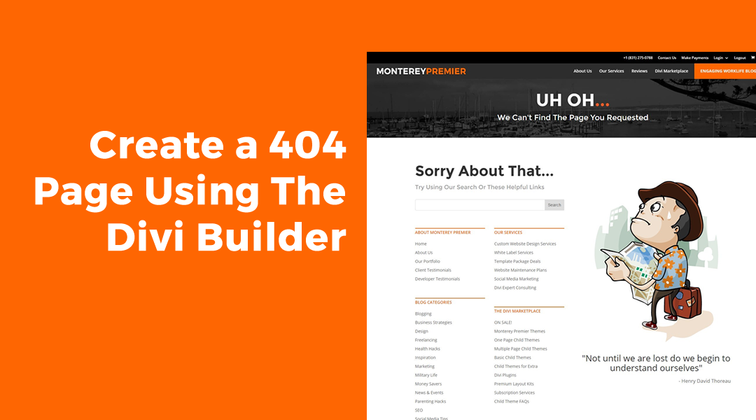 Create a 404 Page Using The Divi Builder