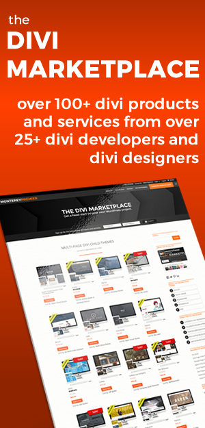 The Divi Marketplace