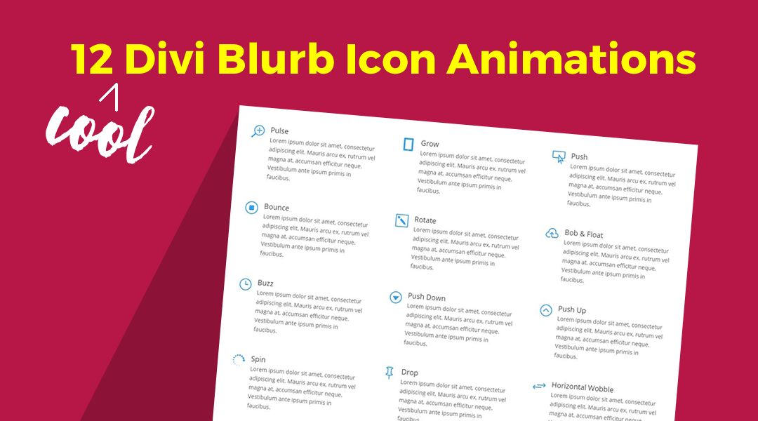 12 Divi Blurb Icon Animations for Your Next Project