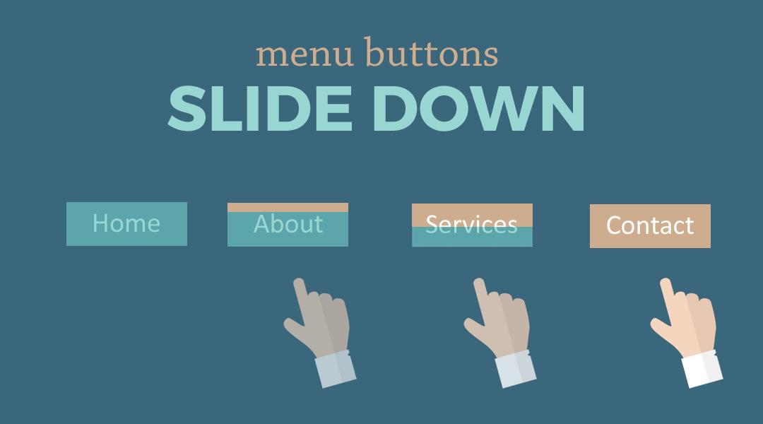 Divi Menu Buttons That Slide Down