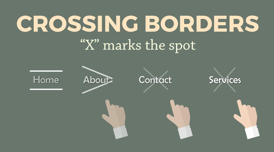 Divi Menu Criss-Crossing Borders