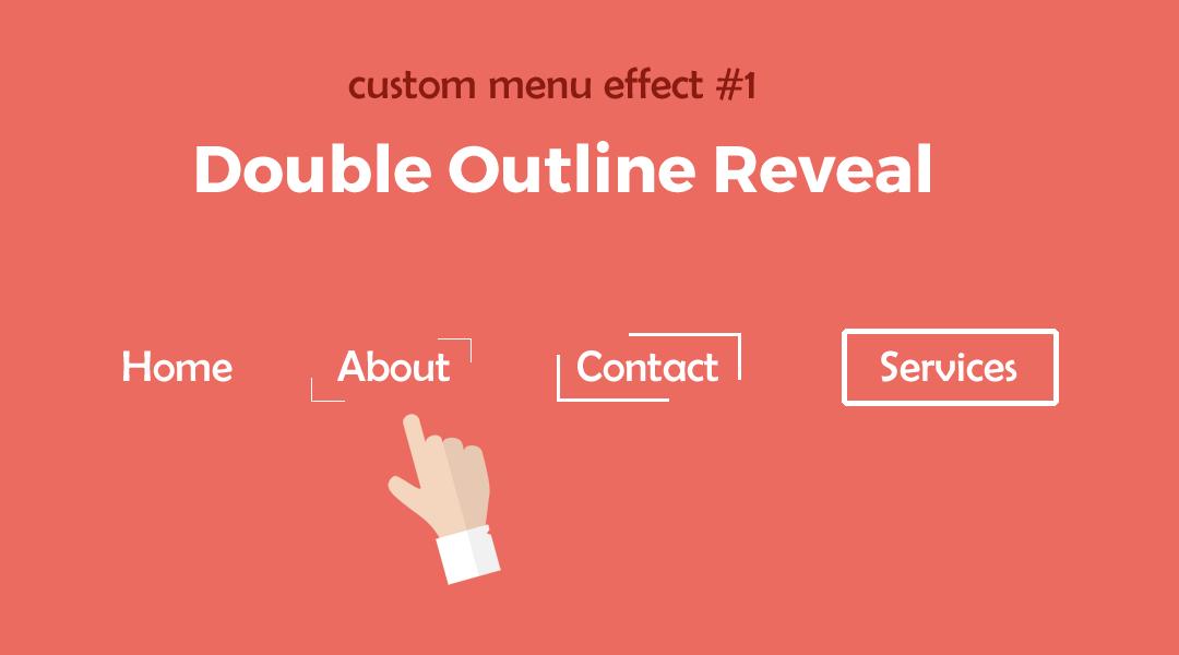 Divi Menu Double Outline Reveal
