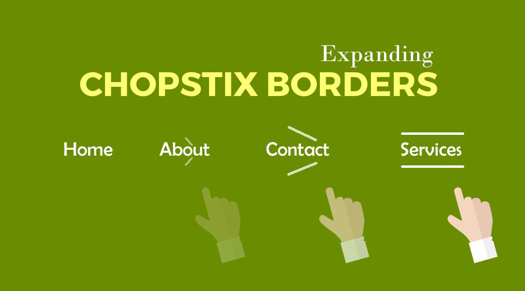 Divi Menu Expanding Chopstix Borders