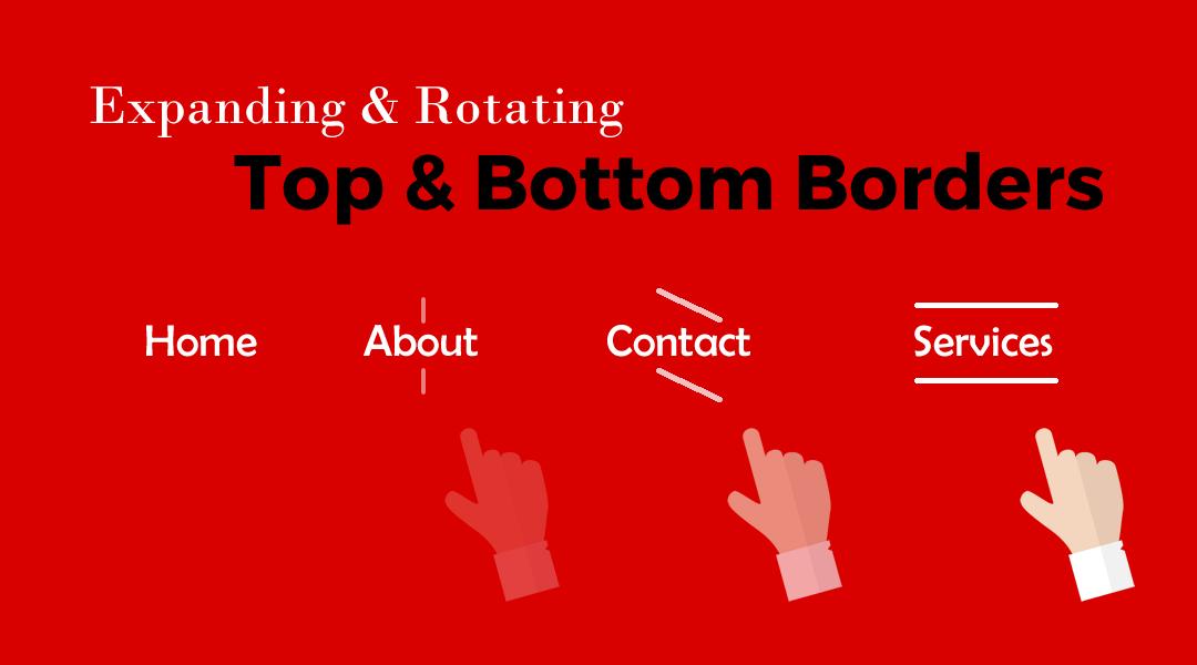 Divi Menu Expanding Rotating Top & Bottom Borders