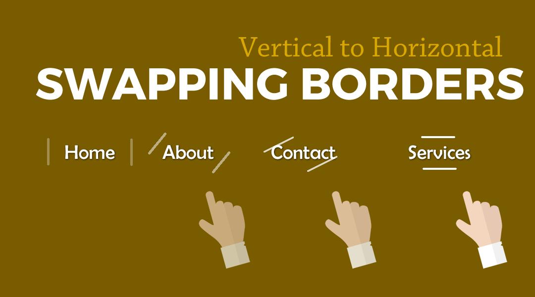 Divi Menu Swapping Borders