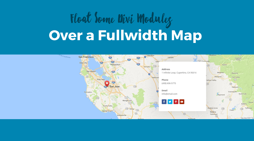 Float Some Divi Modules Over a Fullwidth Map
