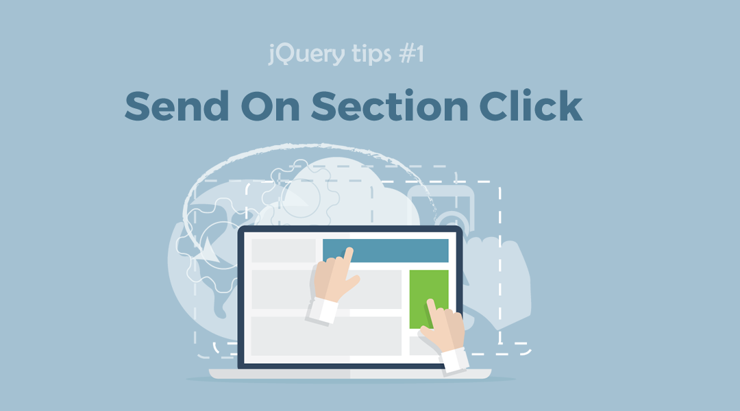 jQuery Send On Section Click