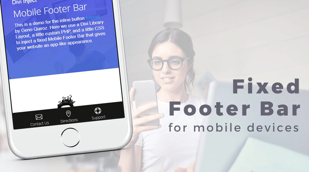 Divi Fixed Footer Bar For Mobile Devices