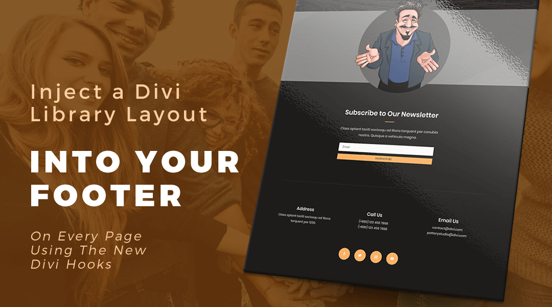 Inject a Layout From Your Divi Library Into Your Footer Using Divi Hooks
