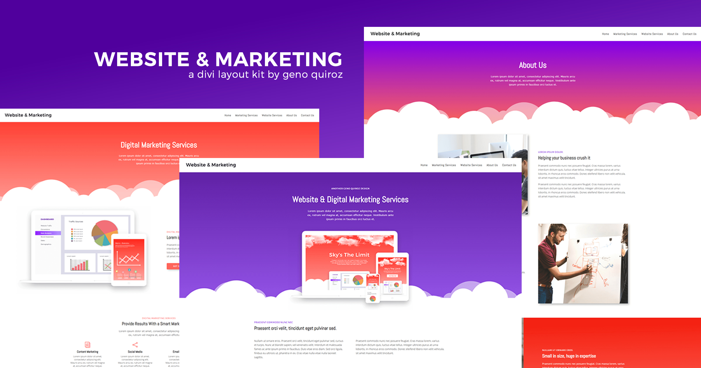 Get a FREE Website & Marketing Agency Layout Pack for Divi by Geno Quiroz