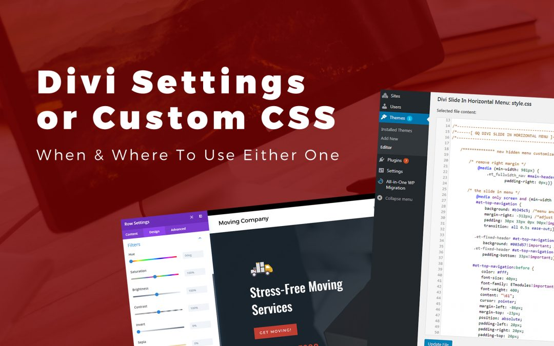 Should I Use the Built-in Divi Builder Settings or Custom CSS