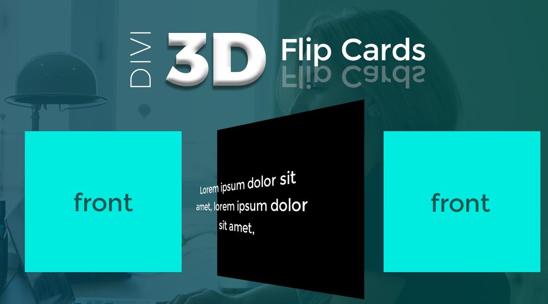 Divi 3D Flip Cards