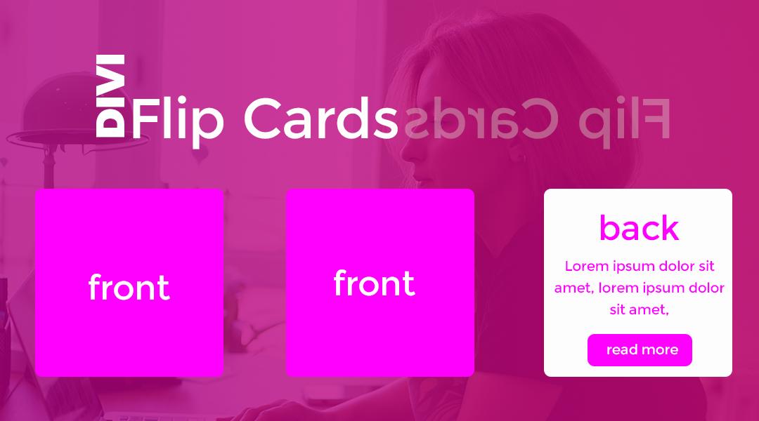 Divi Flip Cards